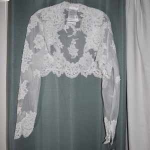 Davids Bridal Cover up Size 2x Lace